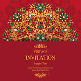 Bröllopinbjudan eller kort med abstrakt bakgrund Royaltyfri Foto