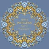Bröllopinbjudan eller kort med abstrakt bakgrund Royaltyfri Fotografi