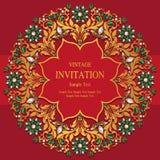 Bröllopinbjudan eller kort med abstrakt bakgrund Arkivfoto