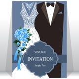 Bröllopinbjudan eller kort med abstrakt bakgrund Arkivbilder
