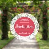 Bröllopinbjudan i romantisk stil EPS JPG vektor illustrationer