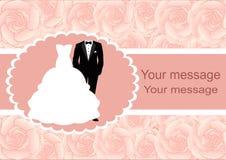 Bröllopinbjudan med ramen för text Royaltyfria Bilder