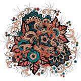 Bröllopinbjudan- och meddelandekort med prydnaden i arabisk stil Arabesquemodell Östlig etnisk prydnad vektor illustrationer