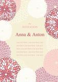 Bröllopinbjudan på temat av blommor Royaltyfria Foton