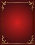 Bröllopinbjudangräns i rött och guld- royaltyfri illustrationer
