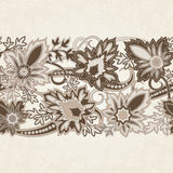 Bröllopinbjudankort med den etniska blommapaisley prydnaden vektor illustrationer