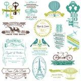 Bröllopinbjudansamling royaltyfri illustrationer