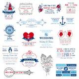 Bröllopinbjudansamling Arkivbild