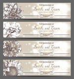 Bröllopinbjudningar Royaltyfria Bilder