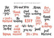 Bröllopinbjudningar som märker uppsättningen, fotosamkopieringar som isoleras på vit bakgrund royaltyfri illustrationer