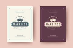 Bröllopinbjudningar sparar illustrationen för vektorn för datumkortdesignen vektor illustrationer