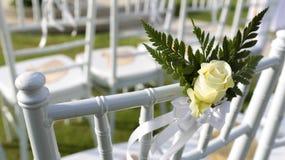 Bröllopinställning royaltyfria foton