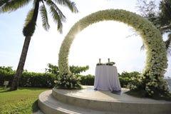 Bröllopinställning arkivbilder
