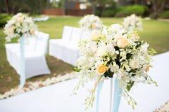 Bröllopinställning arkivbild