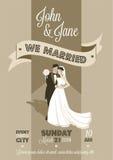 Bröllopkort vektor illustrationer
