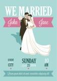 Bröllopkort Arkivfoto