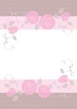 Bröllopkort, kortmall Royaltyfri Fotografi
