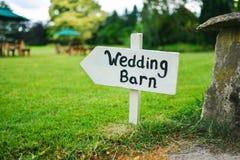 Bröllopladugårdtecken Royaltyfri Bild