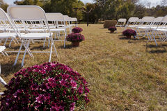 Bröllopmötesplats i natur Arkivfoton