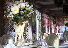 Bröllopmatställe Arkivbilder