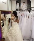 Bröllopmodeshow Arkivfoton