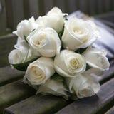 Brölloprosbukett Royaltyfria Bilder