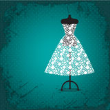 Bröllopsklänning royaltyfri illustrationer