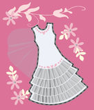 Bröllopsklänning Royaltyfria Foton