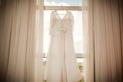 Bröllopsklänning Fotografering för Bildbyråer