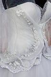 Bröllopsklänning. Detail-44 Royaltyfri Foto