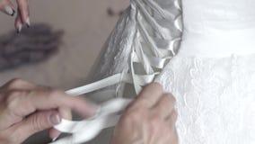 Bröllopsklänningband lager videofilmer