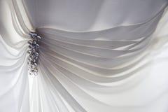 Bröllopsklänningdetalj Arkivbild