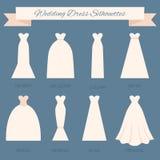 Bröllopsklänningstil stock illustrationer