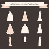 Bröllopsklänningstil vektor illustrationer
