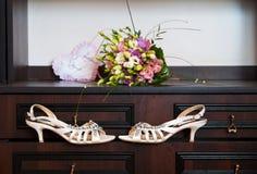 Bröllopskor Arkivfoto