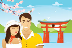 bröllopsresa japan Arkivbilder