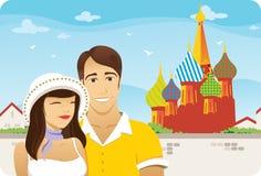 bröllopsresa moscow vektor illustrationer