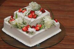 Bröllopstårta Royaltyfria Bilder