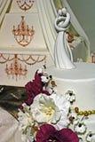 Bröllopstårta som dekoreras special. Detalj 28 Fotografering för Bildbyråer