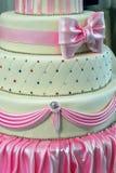 Bröllopstårta som dekoreras special. Detalj 1 Royaltyfria Foton