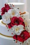Bröllopstårta som dekoreras special. Detalj 11 Fotografering för Bildbyråer