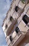 Bröllopstårtaarkitektur, gamla San Juan royaltyfria foton