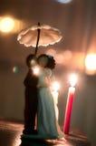 Bröllopstårtadiagram Arkivfoto