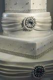 Bröllopstårta som dekoreras special. Specificera 14 Royaltyfri Bild
