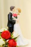 Bröllopstårtatopper Arkivfoto