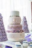 Bröllopstårtor Arkivbild