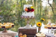 Bröllopstårtor Arkivbilder