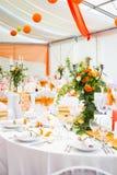 Brölloptabeller Fotografering för Bildbyråer