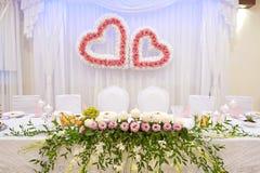 Brölloptabellinställning Royaltyfri Foto