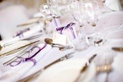 Brölloptabellinställning Arkivbild